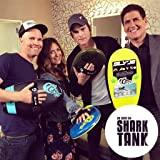 As Seen On Shark Tank! The Slyde Grom Soft Top Body Surfing Handboard, Easy to Use, Fun to Master, Safe for Kids, Portable, Light Weight, Durable with Exceptional Buoyancy - Blue/Electric Lemon