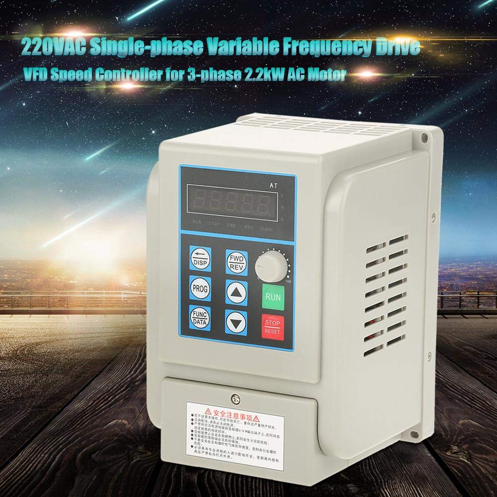VFD 220V, Single-Phase Variable Frequency Drive,Low Noise Electromagnetic Interference,for 3-Phase 2.2KW AC Motor by Thincol (Image #3)