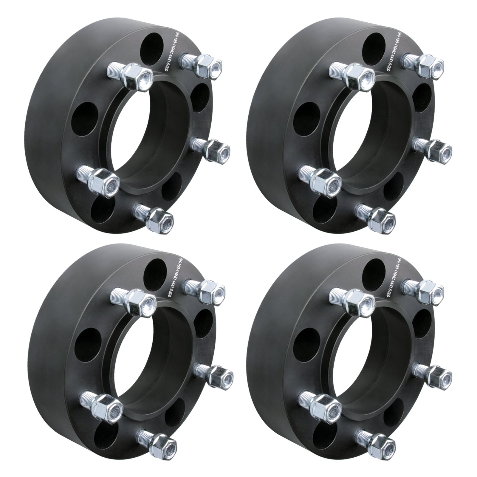 DCUAUTO 4pc 2007-2017 Toyota Tundra 5x150 Hubcentric Wheel Spacers Adapters 2 Inch with 14x1.5 Studs by DCUAUTO (Image #1)