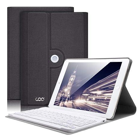 COO Funda Teclado iPad Mini 4, Funda Ultraliviano con Teclado Español Bluetooth Inalámbrico para iPad