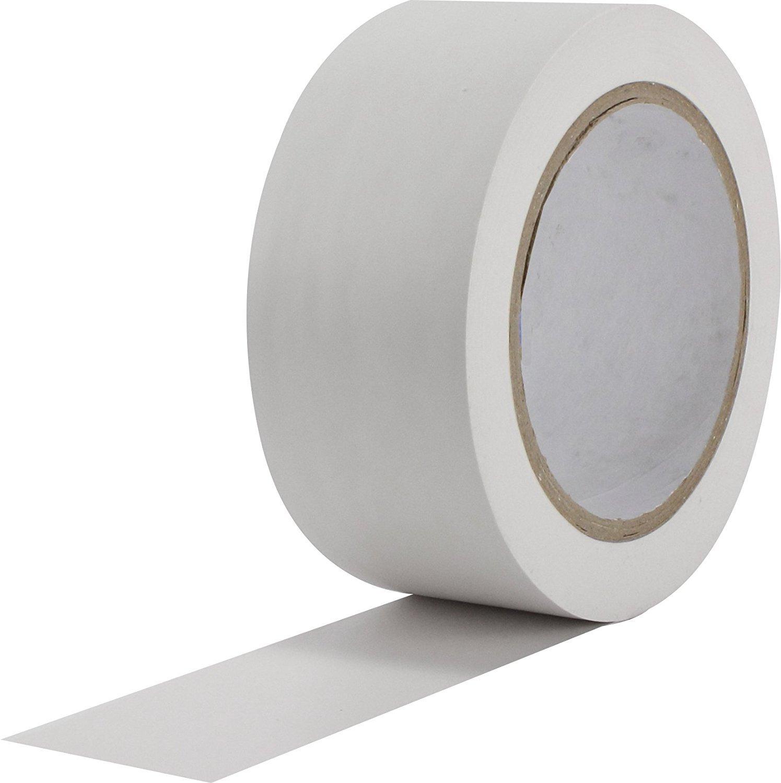 WINGONEER 36 Yards General Purpose Vinyl Tape Color Coding Pack Floor Marking Tape - White