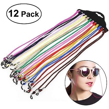 Nuolux - Juego de 12 cordones para gafas de sol, nailon ...
