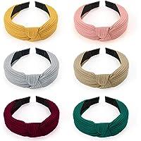 HBselect Diademas Pelo Nudo 10 Pcs,Suave Punto Turbantes Para Chica Mujer Multicolor Accesorio Pelo (set de 6 colores…