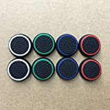 Youji® 4 Pairs / 8 PCS Sostituzione Silicone Analog Controller Joystick Thumb Stick Grips Caps Cover per PS4 PS3 PS2 Controller di gioco Xbox One / 360-Bianco