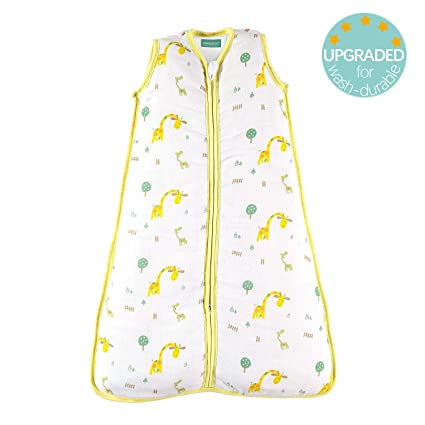 """43.3/"""" molis/&co Unisex Star Print in Blue and Beige 18 to 36 Months 2.5 TOG 105 cm Premium Padded Muslin Sleeping Bag for Babies Ideal for Winter and mid-Season use. Super Soft and Warm"""