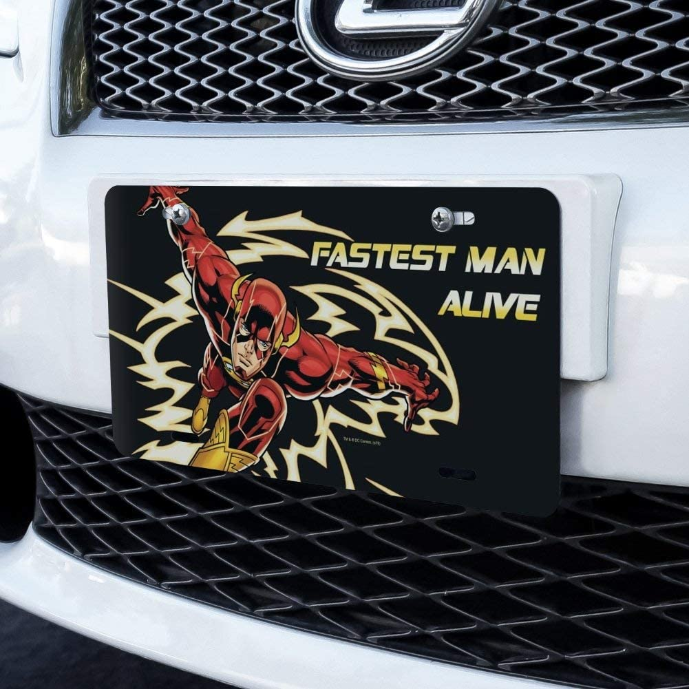 Graphics and More The Flash Fastest Man Alive Novelty Metal Vanity Tag License Plate