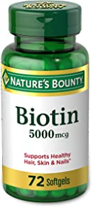 Nature's Bounty, Biotin, 5000mcg, 72 Tablets