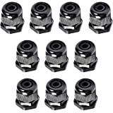 ATPWONZ M20 x 1.5 Cable Glands Plastic Stuffing Gland Black IP68 Waterproof Ø 6mm-12mm Pack of 10