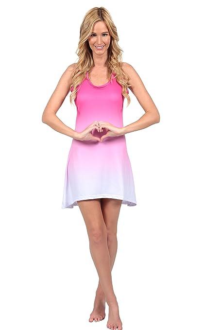 Ingear Tie Dye Racerback Tank Dress Beach Summer Fashion