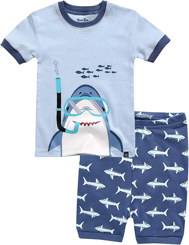 Vaenait Baby SCCharacter/_Boys Toddler Girls Summer Pajamas 100/% Cotton12M-8 Short Sleeve/_Scuba Shark/_M