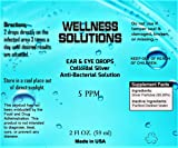 Wellness Solutions All Natural Ear & Eye Drops 2 oz Dropper Bottle Vegan and Gluten