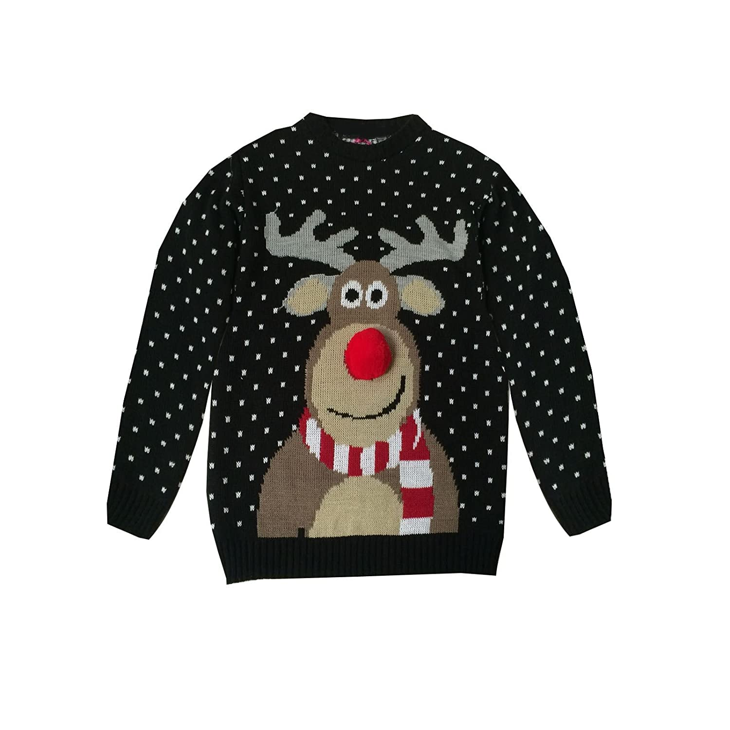 CHILDRENS KIDS BOYS GIRLS KNITTED RETRO NOVELTY CHRISTMAS XMAS JUMPER 3-12 YEARS