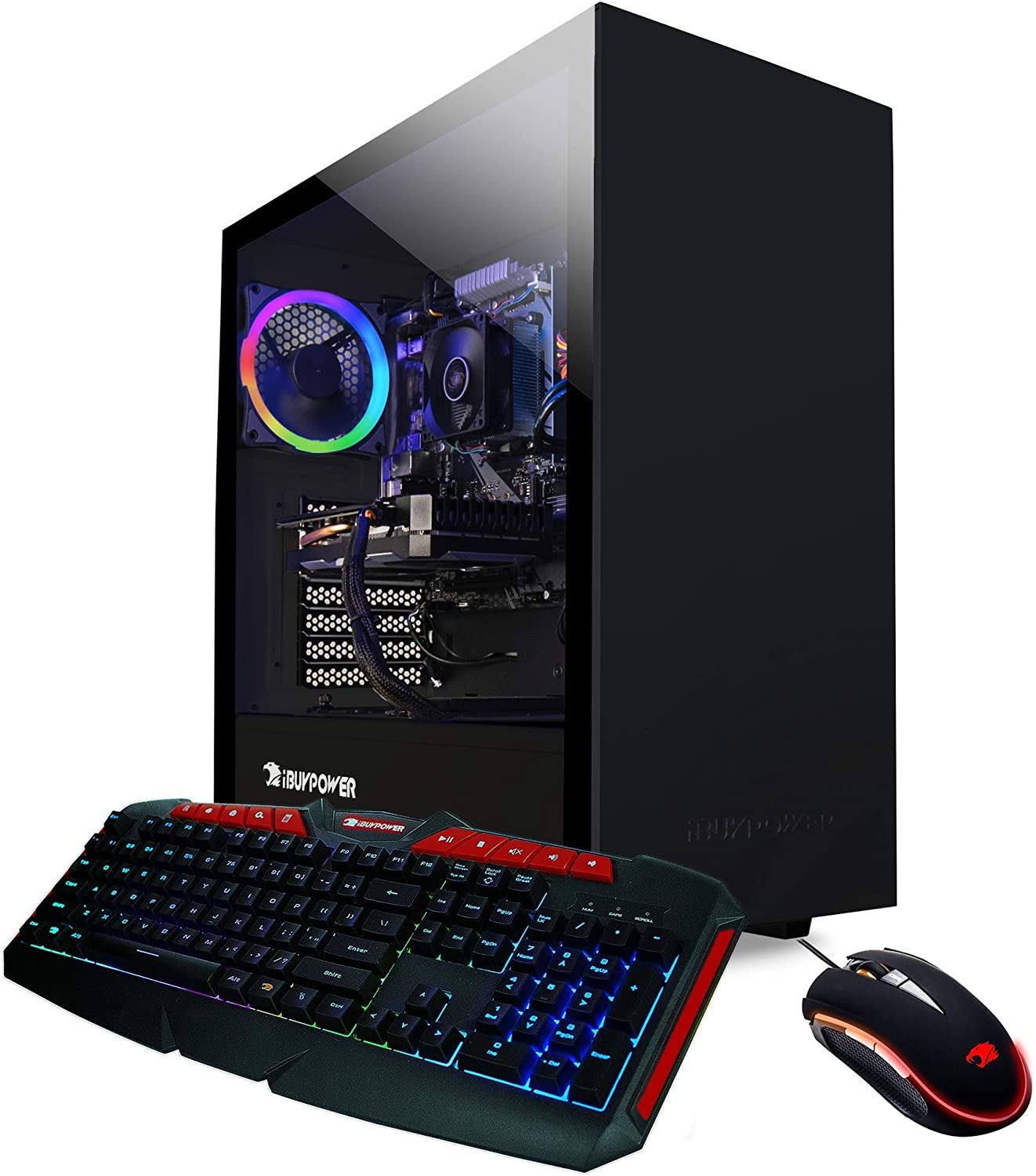 iBUYPOWER Enthusiast Gaming PC Computer Desktop ARCB 108A (AMD Ryzen 3 3200G 3.6GHz, NVIDIA Geforce GT 710 1GB, 8GB DDR4, 1TB HDD, WiFi & Windows 10) Black