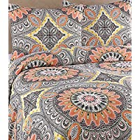 Royale Home Agra Duvet Cover Set, King, Peach