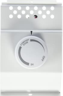 cadet white double pole built in baseboard thermostat