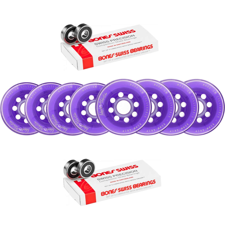 Labeda Wheels 80mm /76mm Hilo セット アディクション パープル インライン ホッケー ボーン スイス