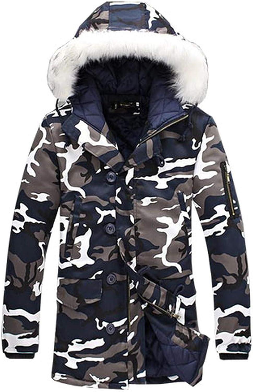 Thicken Hooded Parka Men Coats Jacket Mens Slim Long Outwear Warm Top Casual Mens Coat