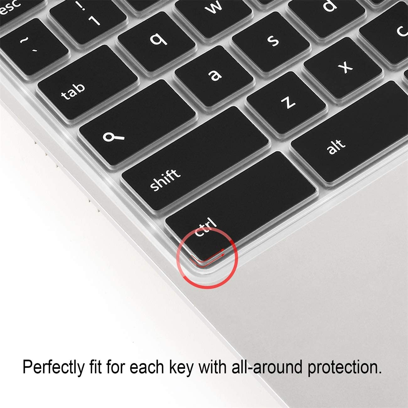 Black Keyboard Cover Skin for ASUS Chromebook 11.6 13.3// Chromebook 13//C214MA C213SA,C223 C202SA C200 C200MA C201 C201PA,Premium Ultra Thin Silicone Protector for C300 C300MA C300SA C301 2pcs Lapogy