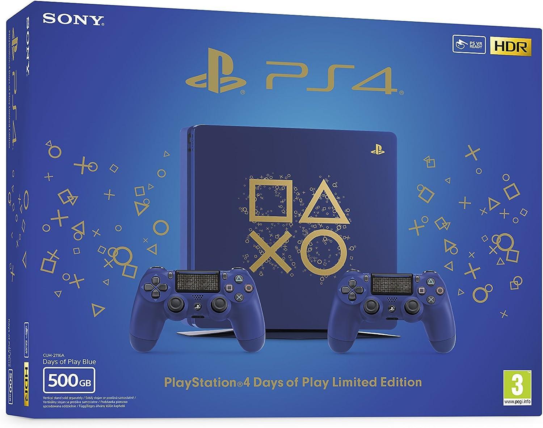 Playstation 4 (PS4) - Consola 500 Gb + 2 Mandos Dual Shock 4 Edición Dop: Amazon.es: Videojuegos
