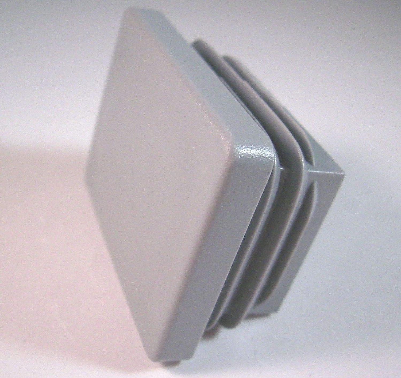 negro dimensiones exteriores 70x50mm para tubos cuadrados 4 tapones