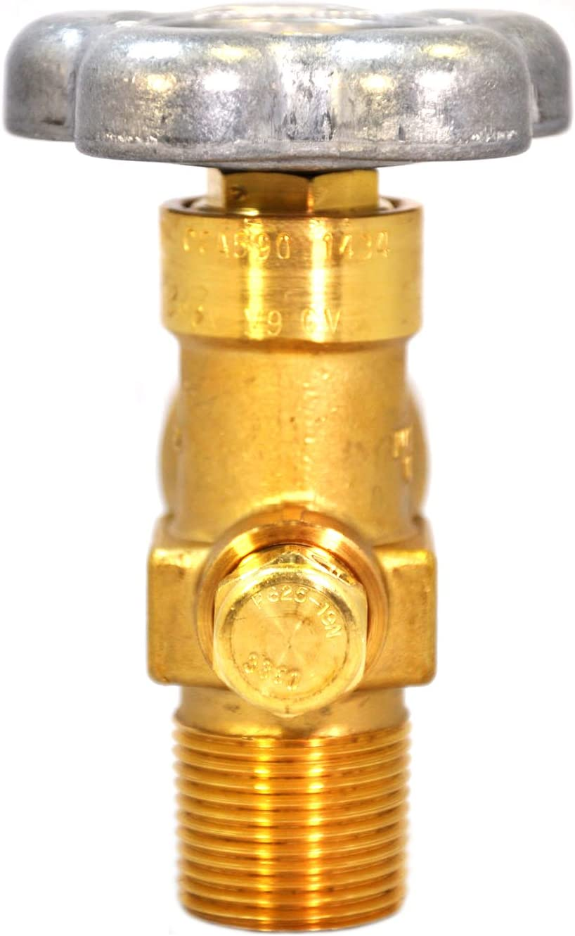 Heavy Duty Forged Brass Material 4000 PSI Type Pressure Relief Device Primarily for Compressed Gas Service New O-Ring Style Sherwood Cylinder Valve Low Maintenance CGA320 Outlet