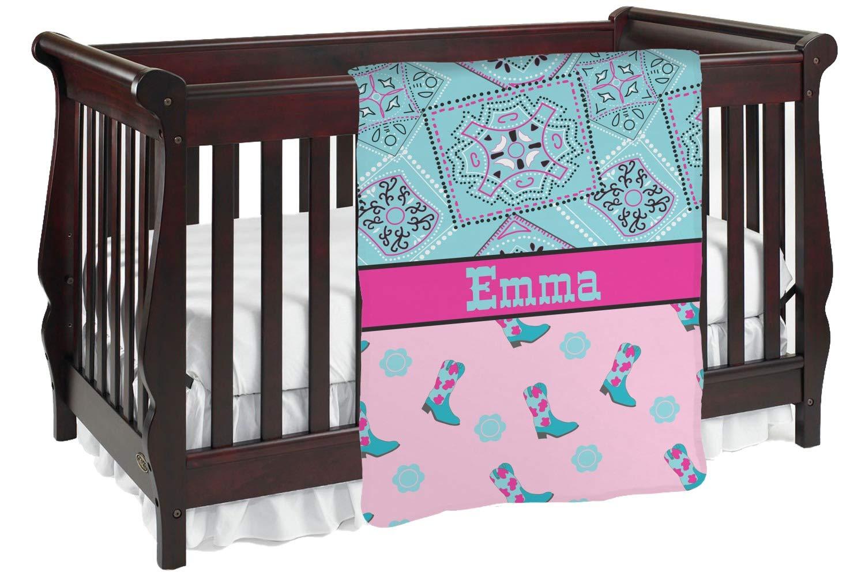 カウガールベビーブランケット( Personalized ) Baby Blanket ピンク mi-baby-blanket-fb+99707 両面  B01KIOQ2PO