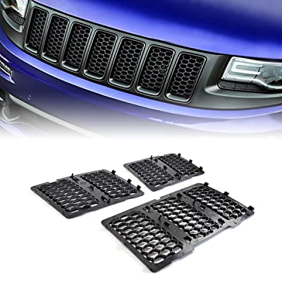 Front Honeycomb Mesh Grille Inserts Grill Cover Kit for 2014-2016 Jeep Grand Cherokee (Matte Black): Automotive
