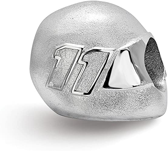 925 Sterling Silver BEAD WITH DRIVER NUMBER