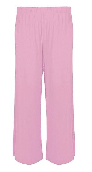 82e957a5f9e3 Elum ® Women Plain Flared Palazzo Trousers  Amazon.co.uk  Clothing
