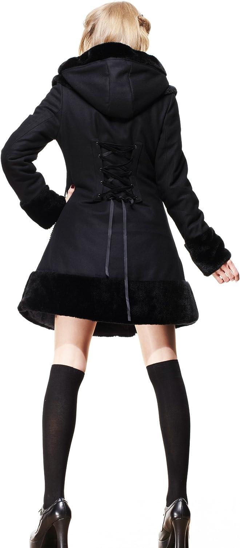 Hell Bunny Kurzmantel Sarah Jane Coat Black-Black Black-black
