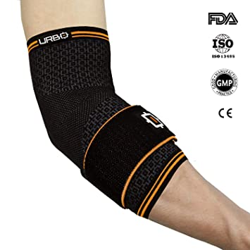 Qualified Elbow Brace Compression Support Sleeve For Tendonitis Medium New Orthotics, Braces & Sleeves