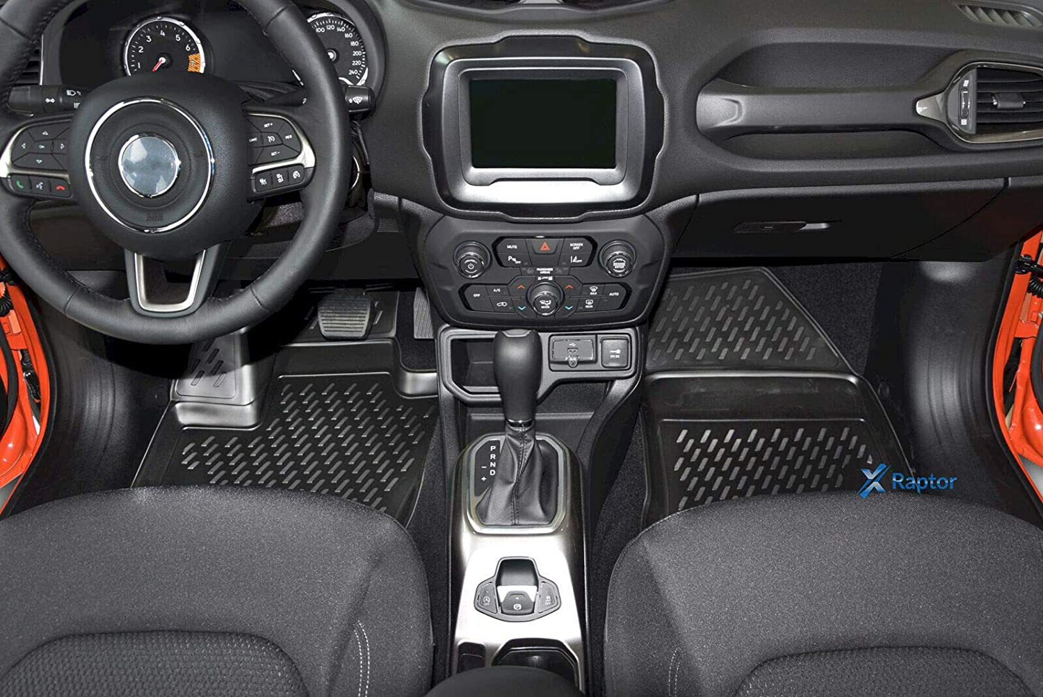 Kofferraumwanne Jeep Renegade ab 2015 J/&J AUTOMOTIVE Exklusiv 3D TPE 5-TLG Set Gummimatten