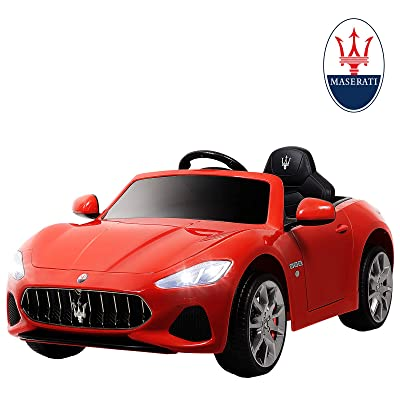 Uenjoy Maserati GranCabrio 12V Electric Kids Ride On Cars Motorized Vehicles with RC Remote Control, Wheels Suspension, MP3 Player, Lights, Red: Toys & Games