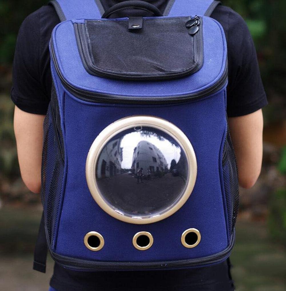WYXIN Espacio Capsual Pet Dog Cat Puppy Carrier port/átil de viajes al aire libre de senderismo frente bolsa de burbujas hombro mochila de lona para perros peque/ños y gatos S green