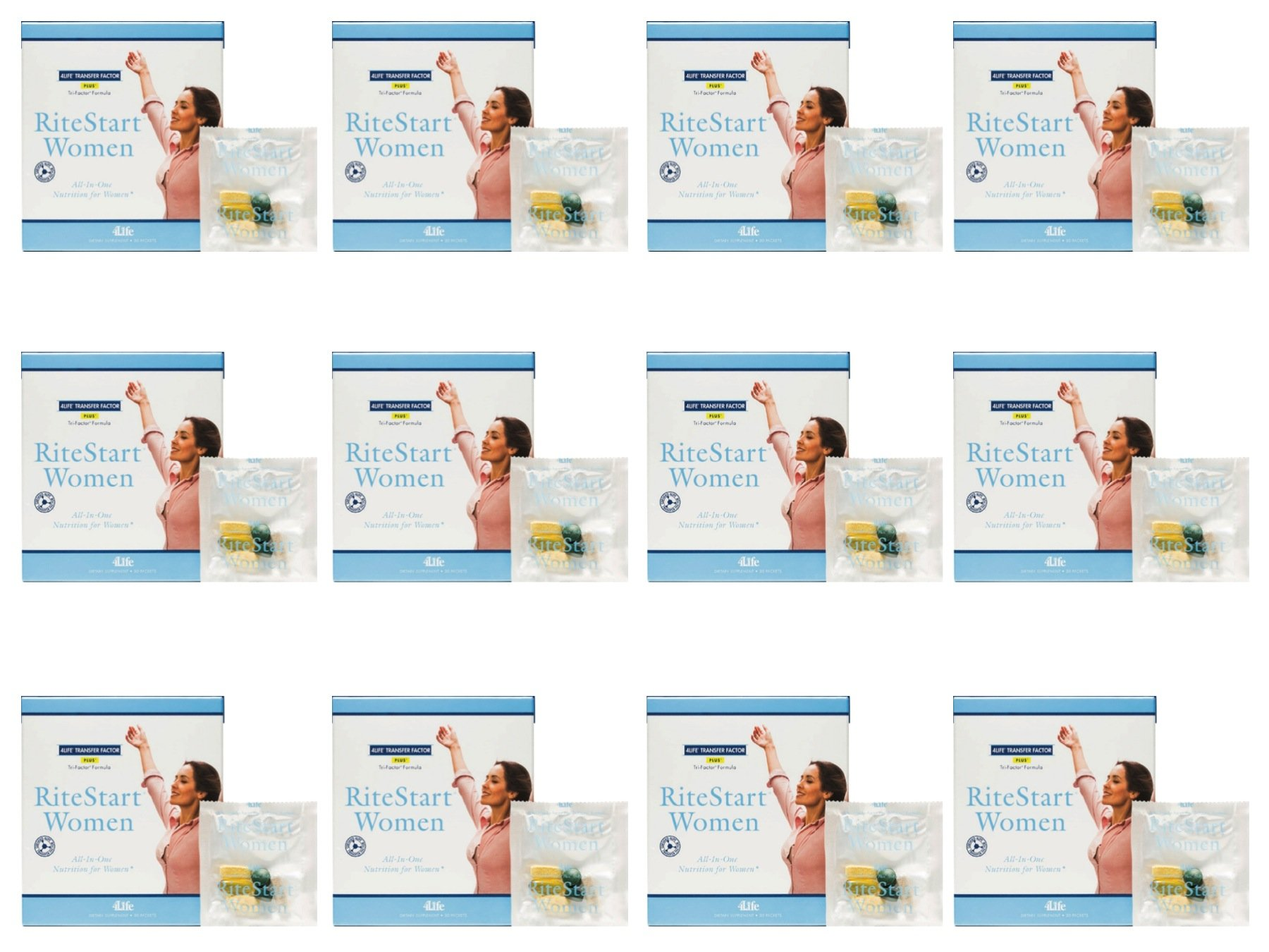 RiteStart for Women (12 for the Price of 11) by 4Life - 30 packets / 12 Boxes