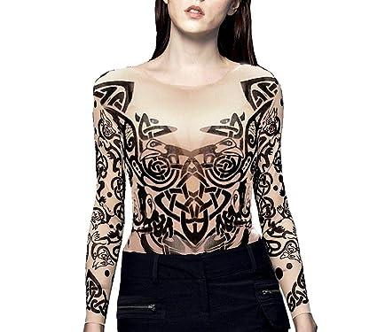 ceda7f6d5 Wild Rose Ladies TRIBAL Tattoo Mesh Shirt Celtic Chain Knot Dragon ...