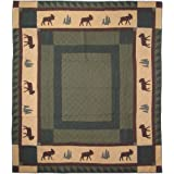 Patch Magic Queen Cedar Trail Quilt, 85-Inch by 95-Inch