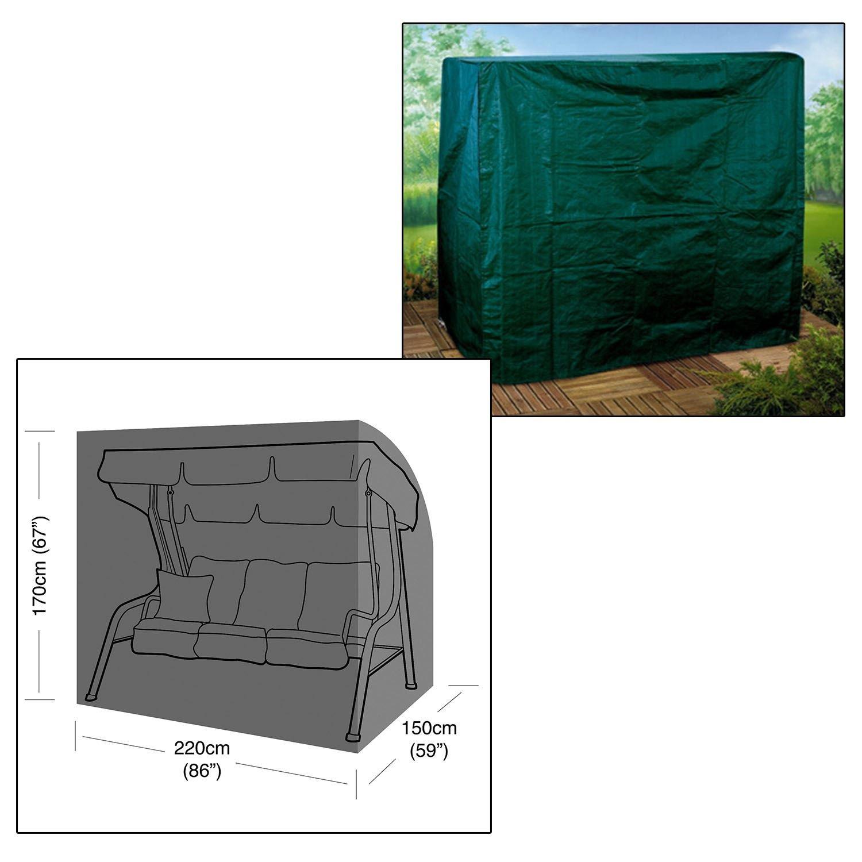 Parkland, robusta copertura impermeabile per dondolo da giardino a 3 posti, con cerniere