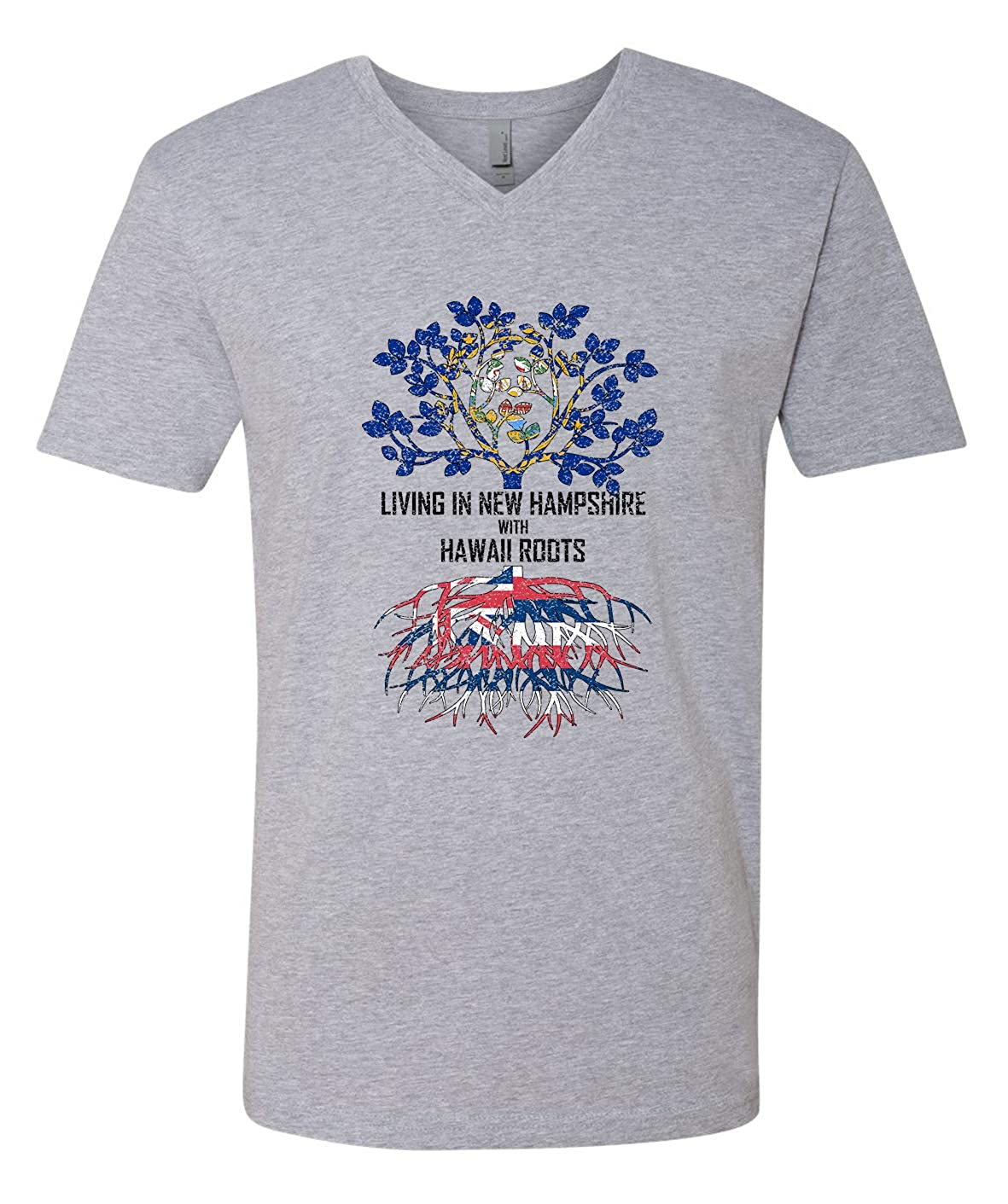 Tenacitee Mens Living in Hampshire Hawaii Roots T-Shirt