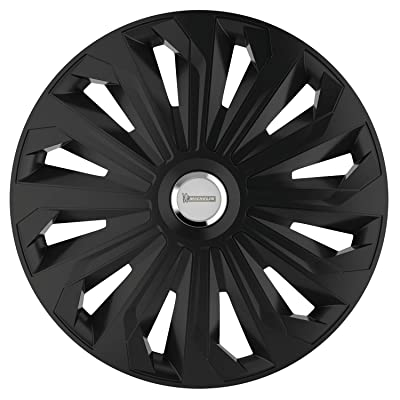 MICHELIN 92008 Wheel Trim Fabienne with Reflector System N.V.S, Set of 4, 33.02 cm, 13 inches, Black: Automotive