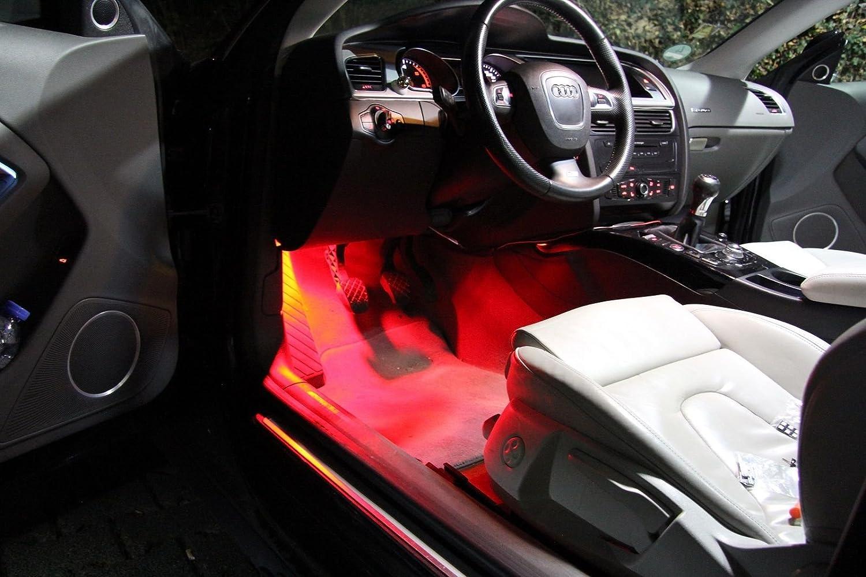 2x TOP LED Modul 18 SMD Fußraumbeleuchtung VW Passat 3C2 ROT