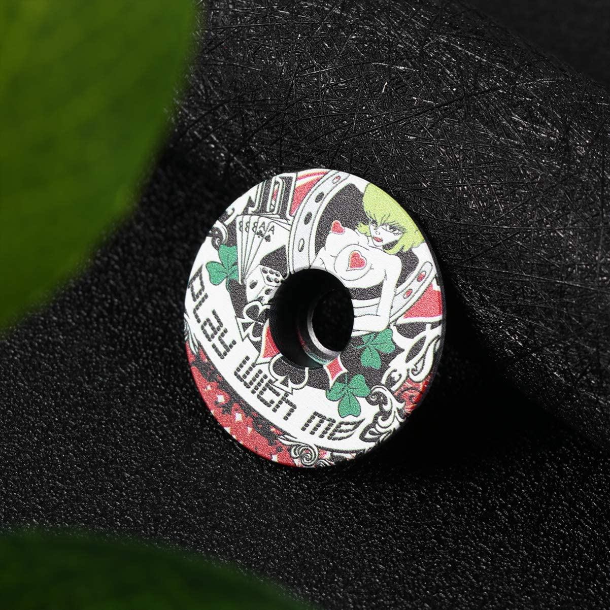BESPORTBLE Bike Stem Cap Bicycle Headset Cap Alloy Headset Top Cap Stem Cover Bike Supplies for MTB Mountain Bicycle