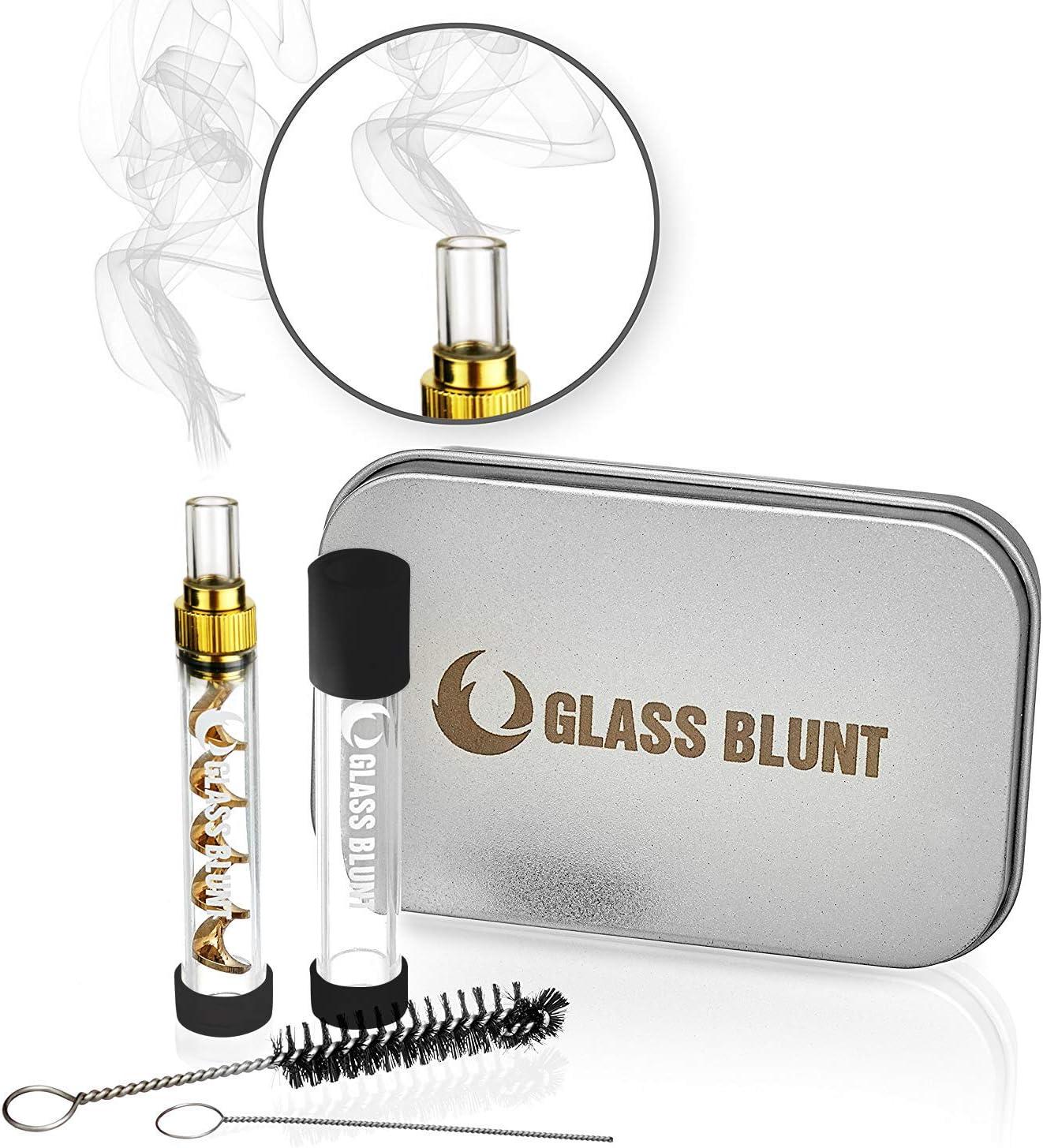 Glass Blunt Pipa de cristal o vaporizador para 1,5 gramos de hierba Mini Glass Blunt