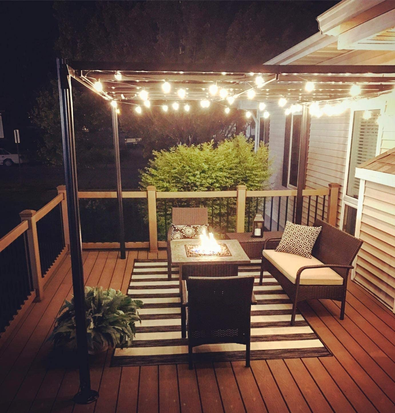 NIOSTA 50ft White Wire G40 Outdoor String Lights,Patio Lights Strand with Clear Globe Bulbs,UL Listed Indoor//Outdoor Hanging Decoration String Lights for Bistro Party Tent Cafe Deck Pergola