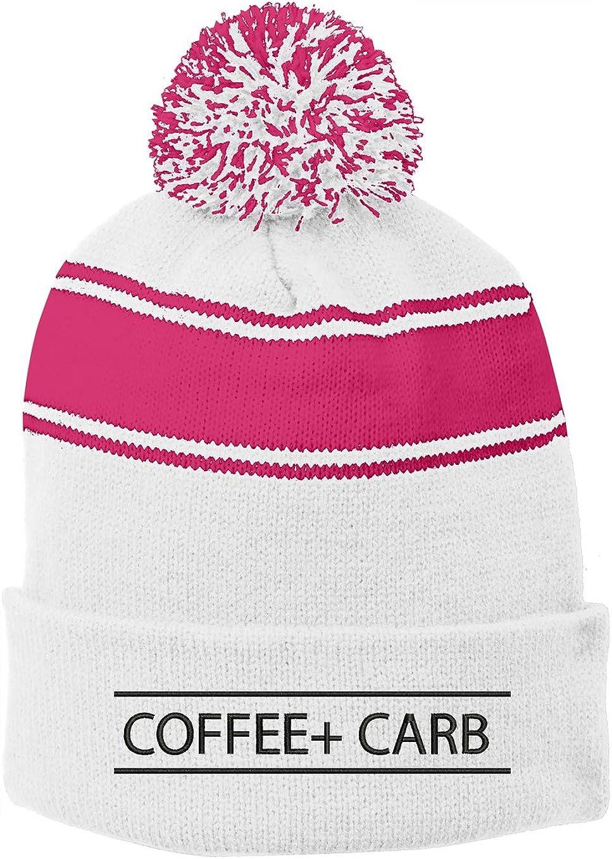 6 Colors Carb Talkie Winter Pom Pom Beanie Hats INK STITCH Stc28 Coffee