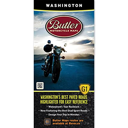 Amazon.com: Butler Motorcycle Maps Washington G1 Map, Best Paved and on