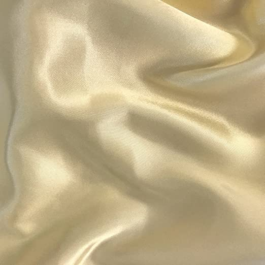 Ivory 100 Yards Shiny Bridal Satin Fabric 60/""