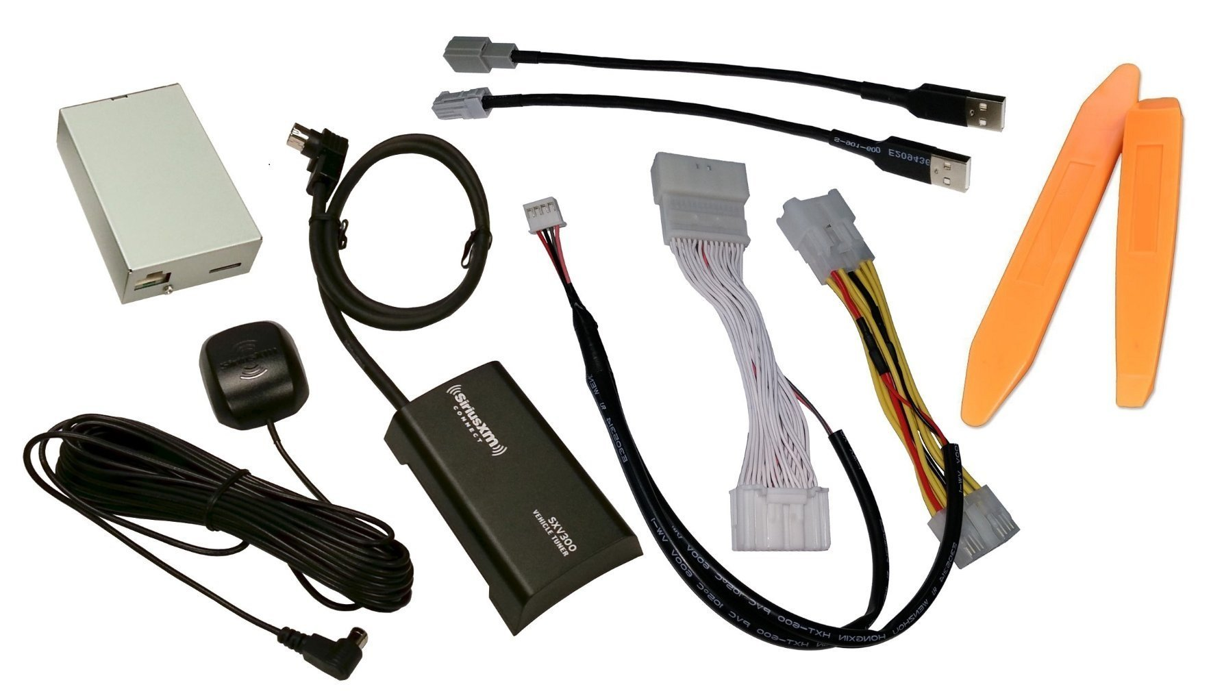 Vais GSR-101 radio interface for select 2014+ Toyota vehicles PLUS SiriusXM SXV300 satellite tuner/antenna kit PLUS dash trim removal tools (Bundle: 3 items)