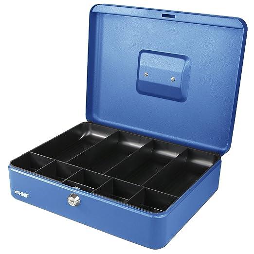 5 opinioni per HMF 10019-05 Cassetta Portavalori con Vassoio Porta Monete e Banconote 30 x 24 x
