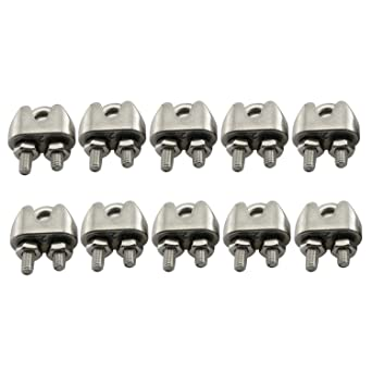 URBEST 20PCS M2 Stainless Steel Wire Rope Cable Clip Clamp 1//16Inch